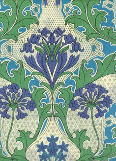 only symmetry - blue and green fabric
