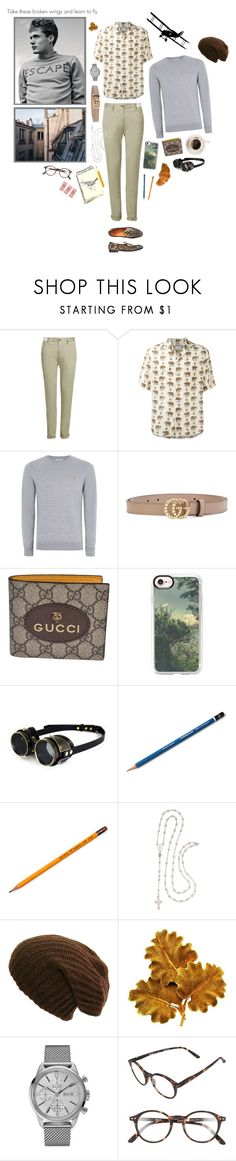 """high flying"" by whimsical-angst ❤ liked on Polyvore featuring Etro, Incotex, Gucci, Topman, Casetify, Ross-Simons, Mario Buccellati, Bulova, Izipizi and vintage"