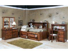 6 Piece Full Roomsaver Bedroom   Rustic   Sam Levitz Furniture