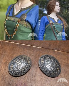 "Viking Brass Oval Brooches Fibulas ""Ingrid"" | Pair http://armstreet.com/store/accessories/viking-brass-oval-brooches-fibulas-ingrid-pair"