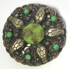 Czech snakes brooch.  The Neiger Club is currently researching this brooch to see if it could be a Neiger.  Photograph Gillian Horsup.