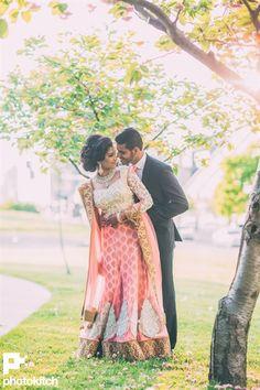 vintage pink wedding lengha | Gunjan & Karan's Fun Filled Maharashtrian Punjabi Fusion Wedding {Toronto, CA} - Gallery