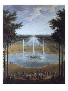 Pierre-Denis Martin – French painter, Fountain of Apollo and the Grand Canal in Versailles, Oil on canvas Louis Xiv, Grand Canal, Worlds Of Fun, Around The Worlds, Hotel Des Invalides, Fontainebleau, Palace Of Versailles, French School, Grand Palais