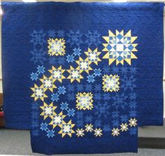 Shooting Star by B. Supnik. The blocks are all from Judy Martin's books, including The Block Book and Knockout Blocks and Sampler Quilts.