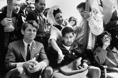 Robert Kennedy visits with California farm labor organizer Cesar Chavez during Chavez's hunger strike in early March, Robert Kennedy, Ethel Kennedy, Kennedy Jr, American Story, Mexican American, Cesar Chavez Movie, Workers Union, Workers Rights, Hunger Strike