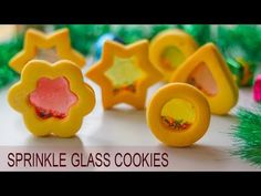 Shaking Sprinkle Glass Cookies | Christmas Cookies | Festival Recipe - YouTube