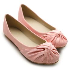 Ollio Womens Shoes Ballet Flats Loafers Bow Comfort Multi Colored (8 B(M) US, Peach)