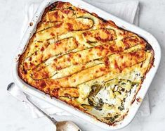 Enjoy a vegetarian lasagne bursting with spinach and courgette, held together with a creamy mascarpone sauce. It's a filling midweek meal for all the family.A quick and creamy carbonara-style … Bbc Good Food Recipes, Veggie Recipes, Pasta Recipes, Vegetarian Recipes, Cooking Recipes, Healthy Recipes, Bbc Recipes, Dinner Recipes, Vegetarian Dinners