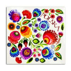 Polish folk art---adore the vibrant colors
