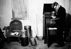 James Dean playing records in his aunt and uncle's basement in Indiana, 1955Photo by Dennis Stock for Life magazine