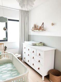 ≥ Leren handgreepjes SALE o. für Ikea Hemnes v. Ikea Nursery, Ikea Bedroom, Baby Bedroom, Baby Room Decor, Ikea Baby Room, Boy Girl Bedroom, Boy Room, Kids Room, Nursery Inspiration