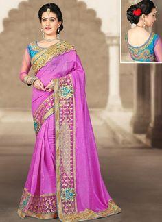 Buy online latest saree, finest collection of designer saree. Buy this art silk designer traditional saree for wedding.