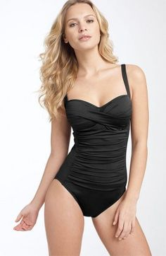 511970792b Swim team La Blanca  Sweetheart  One Piece available at Available in black  for upper class Girls swim uniform