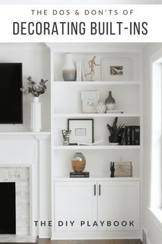 Decorating built-in shelves can be challenging. Here are our tips to create gorgeous styled shelves