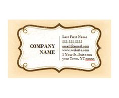 Rustic Vintage Business Card: Get this free, printable, customizable template from YourTemplateFinder.com