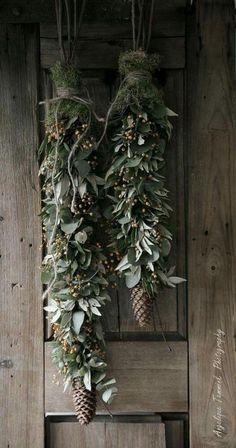 Beautiful alternative to a door wreath!