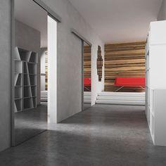 Εσωτερική πόρτα Kinesis Divider, Catalog, Stairs, Blue And White, Room, Furniture, Home Decor, Bedroom, Stairway
