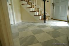 Idea for the basement foyer floor:  Using Annie Sloan Chalk Paint on Floors - Driven by Decor