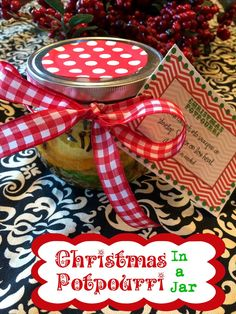 Marci Coombs: Christmas Potpurri in a Jar and a Free Printable Tag