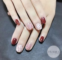58 Trendy fails design flower colour in 2019 Swag Nails, Pink Nails, Cute Nails, Pretty Nails, Nail Art Designs, Flower Nail Art, Stylish Nails, Simple Nails, Nail Arts