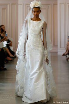 Oscar de la Renta Bridal Spring 2016 Wedding Dresses -Love the hat!
