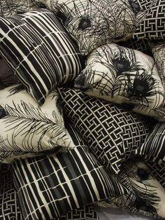 Florence Broadhurst textile designs on pillows