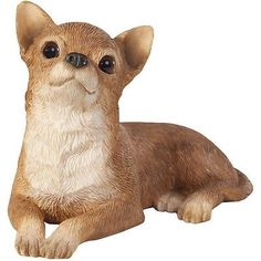 SANDICAST Sculpture Dog Figurine Small Size Lying SS02803 TAN CHIHUAHUA