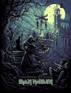 """Iron Maiden """"Hallowed Be Thy Name""""  artist: Dan Mumford"""