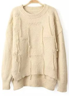 High-Low Mohair Beige Sweater 28.00