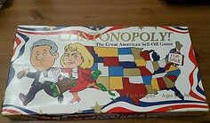 Clintonopoly great american sell off vintage board game opoly 1995