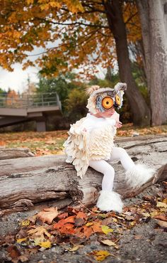 Incredible homemade snow owl costume by Allegra George
