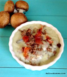 Creamy Mushroom Burger Soup - Paleo AIP-friendly #paleo #AIP #autoimmuneprotocol  Made this, and it is EXCELLENT.  I added more garlic powder and onion powder than the recipe calls for.  And of course, salt.  It is so good.