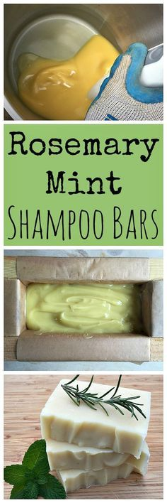 Learn how to make these awesome homemade rosemary mint shampoo bars!