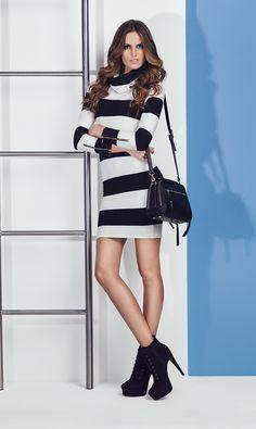 Izabel Goulart: Studio F Colombia High 2015 Izabel Goulart, Celebrity Photos, Striped Dress, Two Piece Skirt Set, Dresses For Work, Stripes, Outfits, Studio, Celebrities