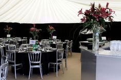 Black & Silver theme - #marqueehireuk #marqueehire #Notts #Derby #Leicester #weddings #corporate #events