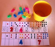 associer chiffres et constellations - dénombrement