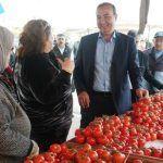 Belediye Başkanı Alemdar Öztürk Pazar Esnafını Ziyaret Etti