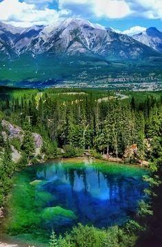 Grassi Lakes in Canmore, Alberta, Canada  | via Tumblr