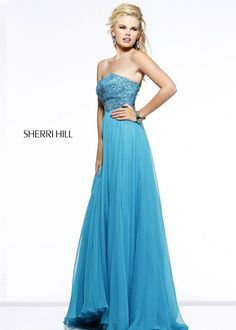 2014 Beaded Strapless Sleeveless A-Line Prom Gown