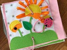 Quiet book PAGE activity book page busy book with bee and