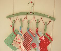The sweetest little stockings and I love that hanger.