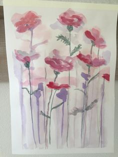 Original Watercolour 11 x 15 Original Artwork, Original Paintings, Art Work, Watercolour, Poppies, The Originals, Artwork, Pen And Wash, Work Of Art
