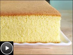 KT's Castella cake has a fine crumb. The top and bottom of the cake is beautifully browned. THE BEST RECIPE EVER! Cake Videos, Food Videos, Ogura Cake, Chocolate Swiss Roll, Magic Custard Cake, Chocolate Sponge Cake, Big Cakes, Fashion Cakes, Small Cake