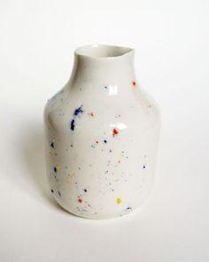 Pot porcelain collection Pollen. Pitcher or vase. by AurelieDorard