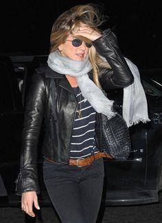 ... Bottega Veneta is the perfect designer for this A-list actress.  Jennifer carried a Bottega Veneta Intrecciato Shoulder Bag with another  dark ensemble. 9c6336ac42748