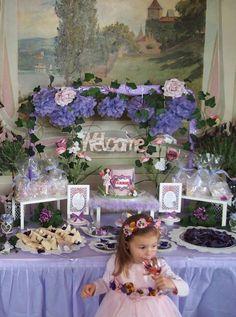 Flower Fairy 3rd Birthday Feast   CatchMyParty.com