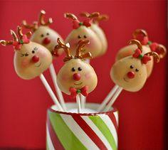 Rudolf and friends cakepops