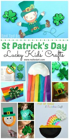 Easy St Patrick's Day Crafts for Kids! From rainbows to pots of golds to shamrocks this roundup has something for preschool and kindergarten this St. Patrick's Day! #stpatricksday #kidscrafts