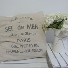 sel de mer french vintage cushion by reclaim prints etsy coastal home beach house decor
