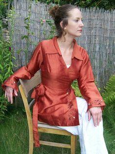 Farb- und Stilberatung mit www.farben-reich.com - Seidenbluse Jasmine von Para Ti - fashion design auf DaWanda.com
